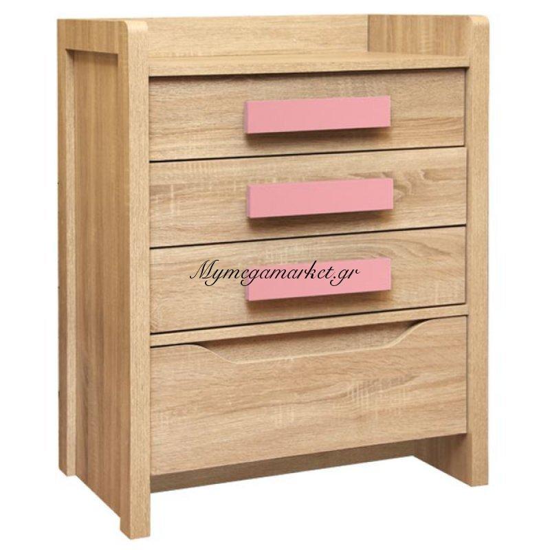 Συρταριέρα Playroom Sonama-Ροζ Hm10217.03 63Χ40Χ80Εκ.