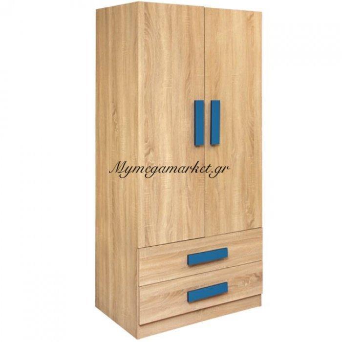 Ντουλάπα 2Φυλλη Playroom Sonama-Σιέλ Hm335+Hm336.01 80X50X180Εκ. | Mymegamarket.gr