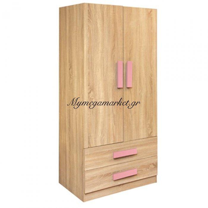 Ντουλάπα 2Φυλλη Playroom Sonama-Ροζ Hm335+Hm336.02 80X50X180Εκ. | Mymegamarket.gr