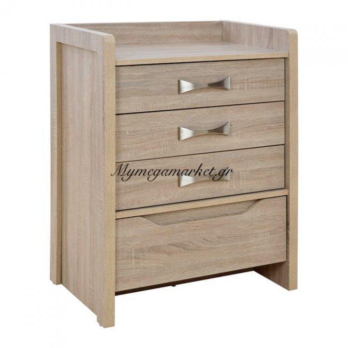 Συρταριέρα Sonama - Ασημί Hm10217.01 63x40x80 Εκ. | Mymegamarket.gr