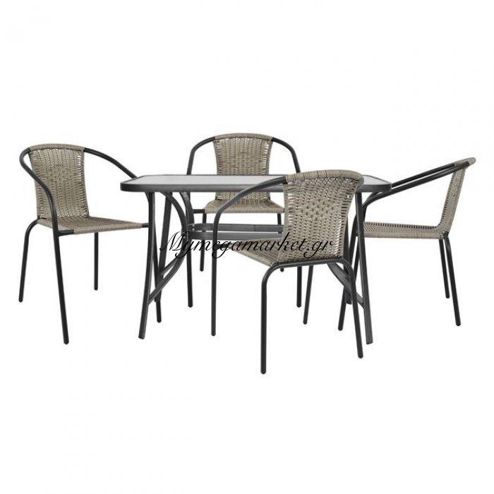 Σέτ Τραπεζαρία 5Τμχ Καρέκλες Και Τραπέζι Hm5192.01 | Mymegamarket.gr