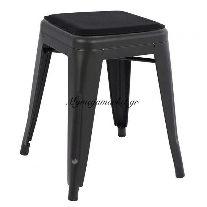 Σκαμπω Melita Μαύρο Ματ Και Κάθισμα Hm8064.22 | Mymegamarket.gr