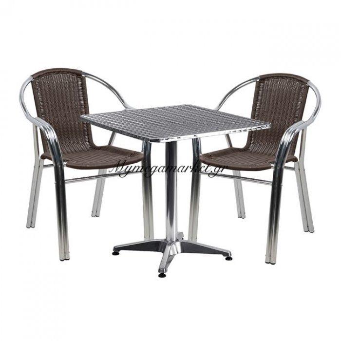 Σετ Τραπεζαρίας 3Τμχ Με Τραπέζι Και Καρέκλες Hm5198 | Mymegamarket.gr