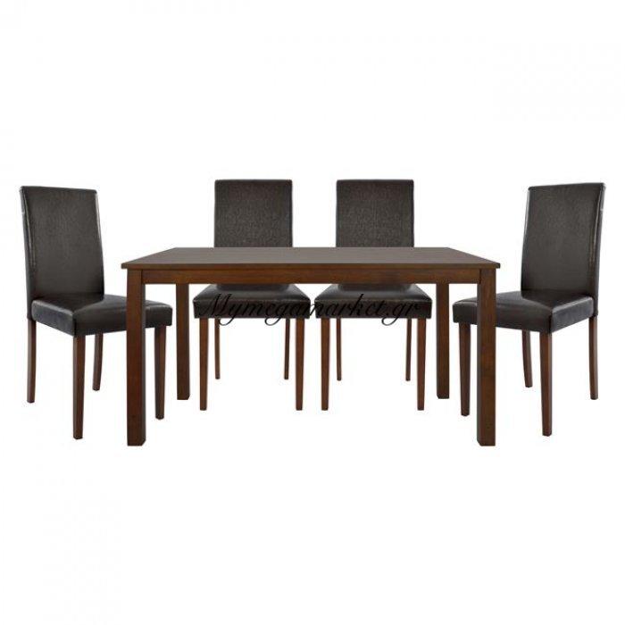 Σετ Τραπ/Ριας 5Τμχ Με Τραπέζι 120Χ74 Και Καρέκλες Selene Hm10124   Mymegamarket.gr