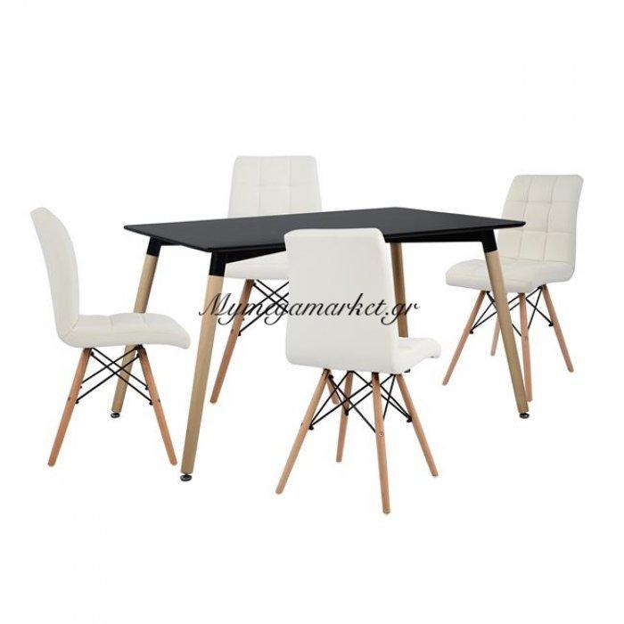 Σετ Τραπεζαρίας 5Τμχ Με Τραπέζι Και 4 Καρέκλες Hm10219   Mymegamarket.gr