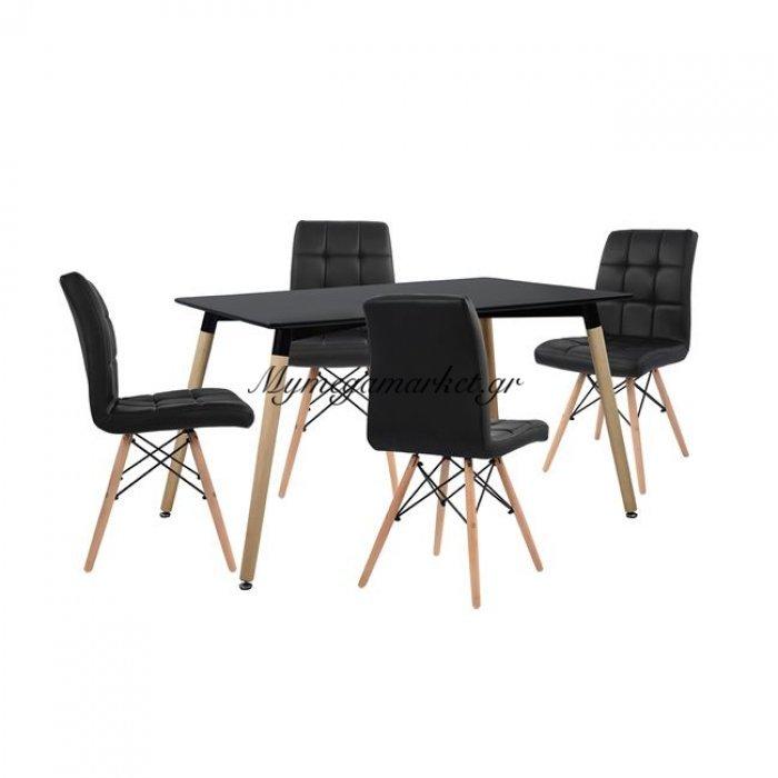 Σετ Τραπεζαρίας 5Τμχ Με Τραπέζι Και 4 Καρέκλες Hm10220   Mymegamarket.gr