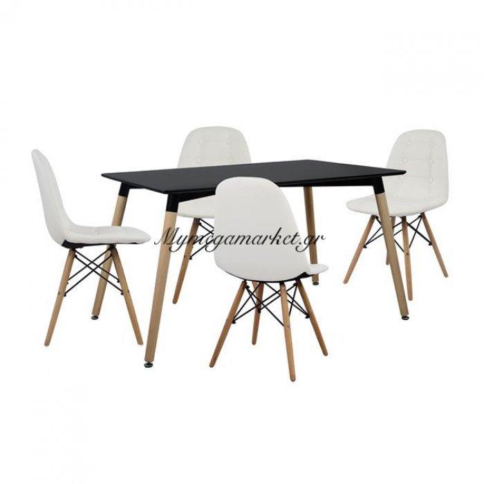 Σετ Τραπεζαρίας 5Τμχ Με Τραπέζι Και 4 Καρέκλες Hm10222   Mymegamarket.gr