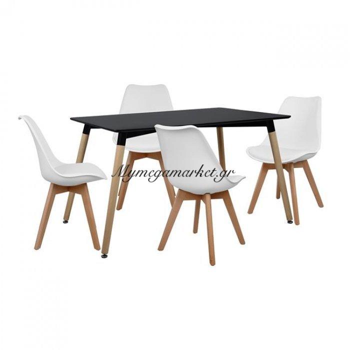Σετ Τραπεζαρίας 5Τμχ Με Τραπεζι Και 4 Καρέκλες Hm10230 | Mymegamarket.gr