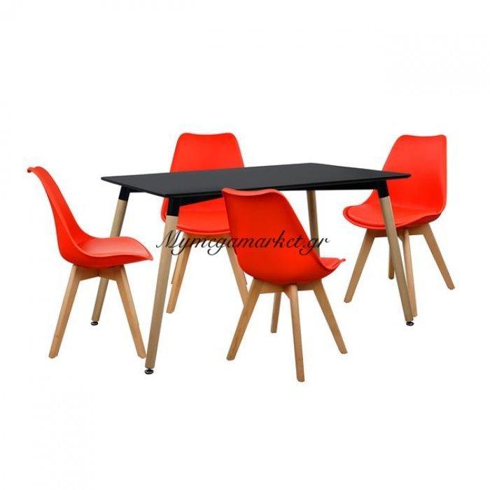 Σετ Τραπεζαρίας 5Τμχ Με Τραπέζι Και 4 Καρέκλες Hm10232   Mymegamarket.gr