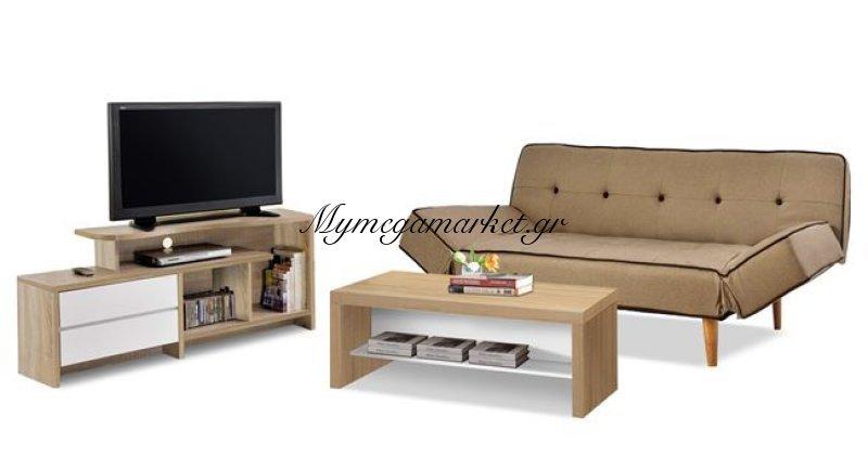 Σετ Φοιτητικό 3Τμχ Καναπές Έπιπλο Tv & Τραπέζι Σαλονιού Hm10284 | Mymegamarket.gr
