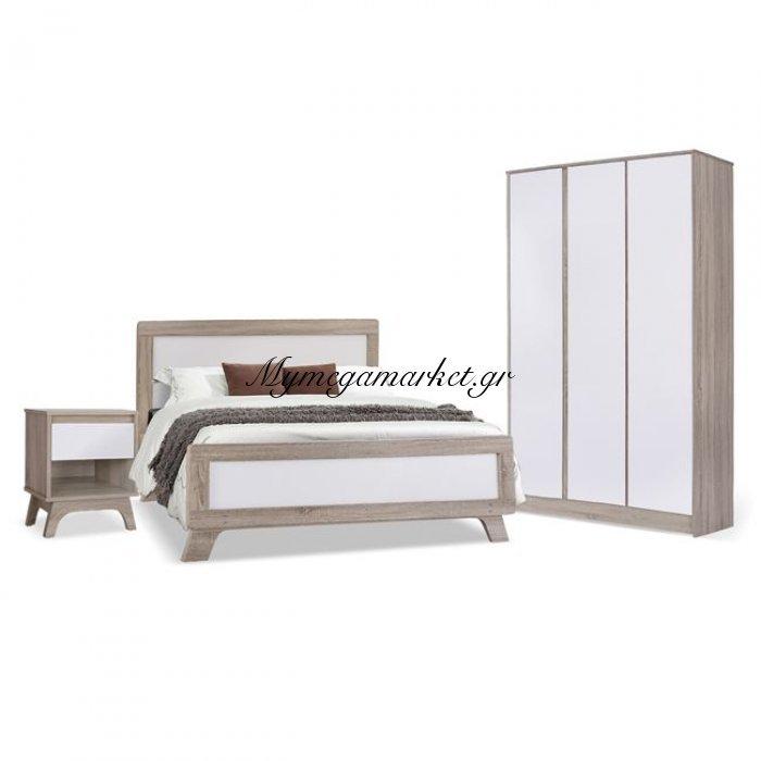 Σετ Κρεβατοκάμαρας 3Τμχ Karla Hm10291 Sonama - Λευκό | Mymegamarket.gr