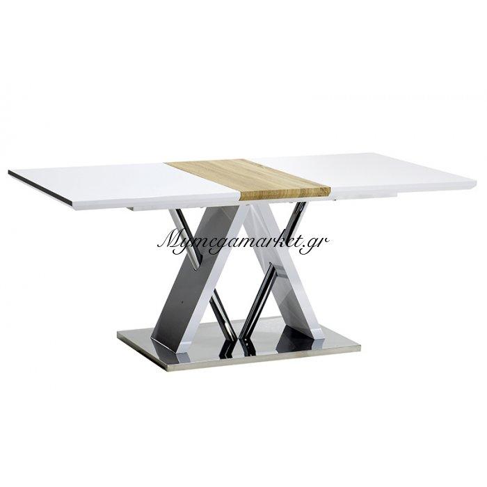 Τραπέζι Nouvel Ορθογώνιο Με Επιφάνεια Mdf Χρώμα Λευκό 180X90X76 | Mymegamarket.gr