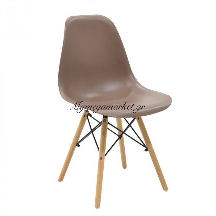 Καρέκλα Julita Pp Χρώμα Μόκα Επαγγελματική Κατασκευή | Mymegamarket.gr