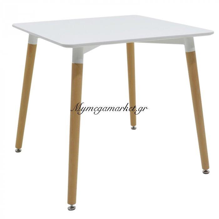 Τραπέζι Natali Τετράγωνο Με Επιφάνεια Mdf Χρώμα Λευκό 80X80X73 Επαγγελματική Κατασκευή | Mymegamarket.gr