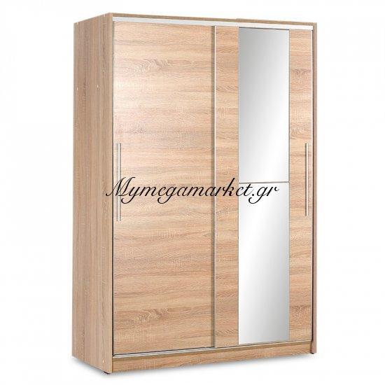 Ντουλάπα Ρούχων Slide Δίφυλλη Με Συρόμενες Πόρτες Χρώμα Sonoma 120X52X182Εκ Στην κατηγορία Ντουλάπες ξύλινες | Mymegamarket.gr