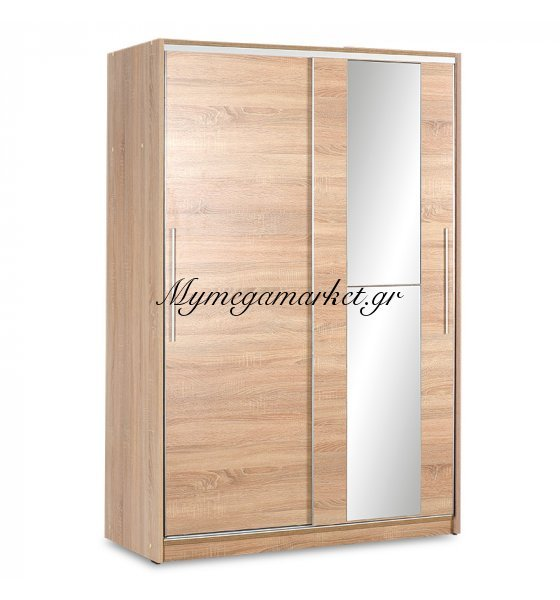 Ντουλάπα Ρούχων Slide Δίφυλλη Με Συρόμενες Πόρτες Χρώμα Sonoma 120X52X182Εκ | Mymegamarket.gr