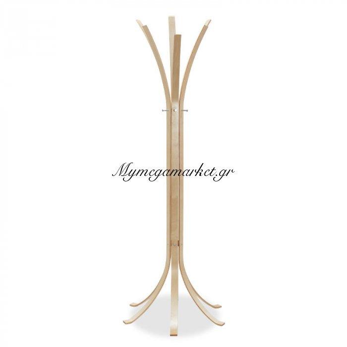 Καλόγερος Ρούχων Branch Ξύλινος Σε Φυσικό Χρώμα 60X60X178Εκ   Mymegamarket.gr