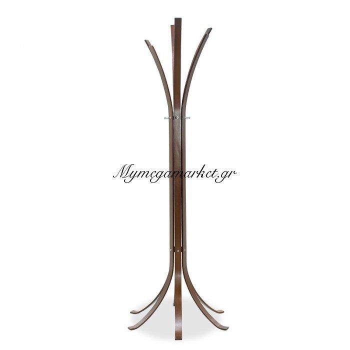 Καλόγερος Ρούχων Branch Ξύλινος Σε Καρυδί Χρώμα 60X60X178Εκ   Mymegamarket.gr