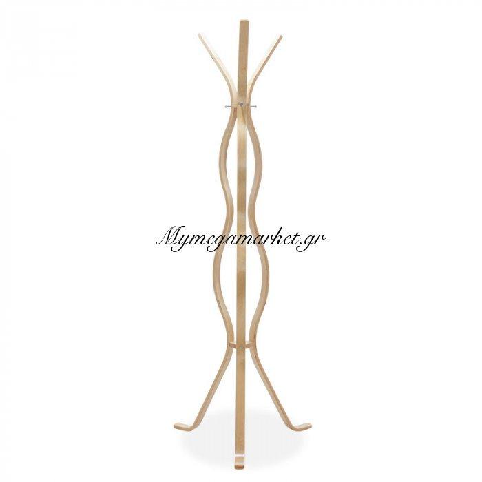 Καλόγερος Ρούχων Woman Ξύλινος Σε Φυσικό Χρώμα 60X60X178Εκ   Mymegamarket.gr