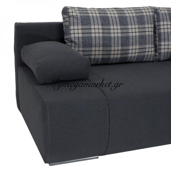Kαναπές-Κρεβάτι Victor 3Θέσιος Με Αποθηκευτικό Χώρο Υφασμάτινος Χρώμα Ανθρακί 200X100X80 Εκ Στην κατηγορία Καναπέδες - Κρεβάτια | Mymegamarket.gr