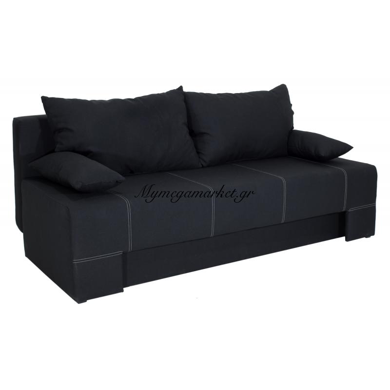 Kαναπές-Κρεβάτι Sunny 3Θέσιος Επένδυση Υφάσματος Μαύρου Χρώματος Διάστασης 195X82X84 Εκ Στην κατηγορία Καναπέδες - Κρεβάτια | Mymegamarket.gr