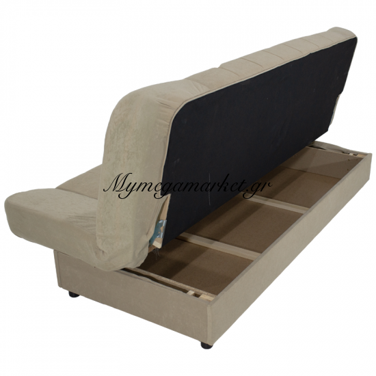 Kαναπές-Κρεβάτι Tiko 3Θέσιος Με Αποθηκευτικό Χώρο Υφασμάτινος Χρώμα Μπεζ 198X85X90 Εκ Στην κατηγορία Καναπέδες - Κρεβάτια | Mymegamarket.gr