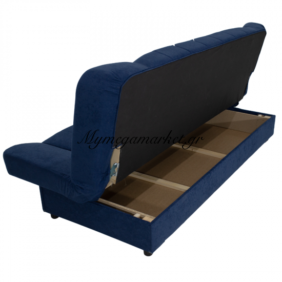 Kαναπές-Κρεβάτι Tiko 3Θέσιος Με Αποθηκευτικό Χώρο Υφασμάτινος Χρώμα Μπλέ Σκούρο 198X85X90 Εκ Στην κατηγορία Καναπέδες - Κρεβάτια | Mymegamarket.gr