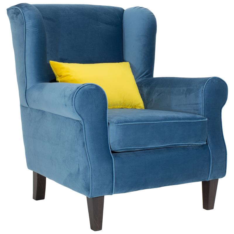 Πολυθρόνα President Με Επένδυση Βελούδου Χρώματος Μπλε Διάστασης 83X86X99 Εκ Στην κατηγορία Πολυθρόνες σαλονιού | Mymegamarket.gr