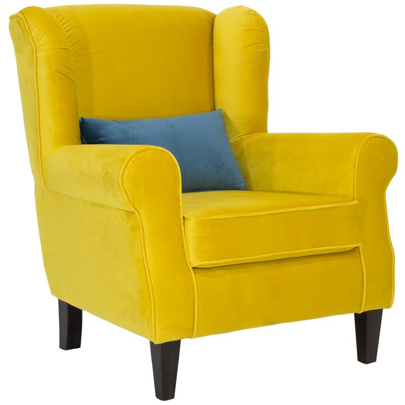 Πολυθρόνα President Με Επένδυση  Βελούδου Χρώματος Κίτρινο Διάστασης 83X86X99 Εκ Στην κατηγορία Πολυθρόνες σαλονιού | Mymegamarket.gr