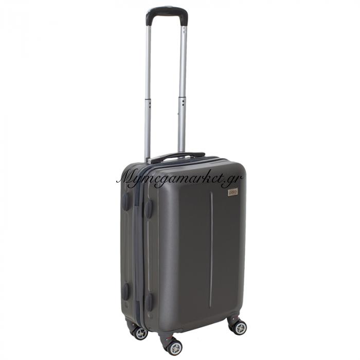 Βαλίτσα Καμπίνας Line Με Ρόδες Σκληρή Από Abs Ανθρακί 40X22X55Εκ | Mymegamarket.gr