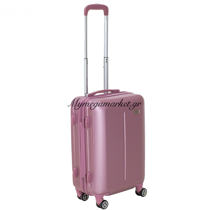 Βαλίτσα Καμπίνας Line Με Ρόδες Σκληρή Από Abs Ροζ 40X22X55Εκ | Mymegamarket.gr