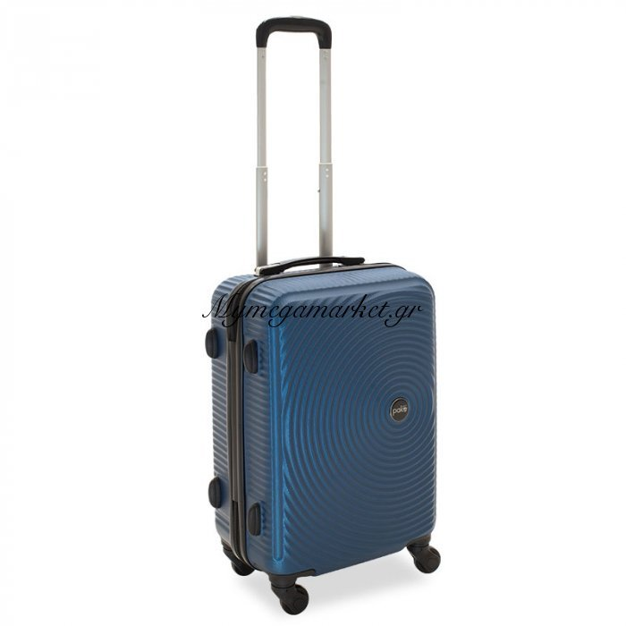 Βαλίτσα Καμπίνας  Polar Με 4 Ρόδες Σκληρή Από Abs+Pc Μπλε 38X22,5X57Εκ | Mymegamarket.gr