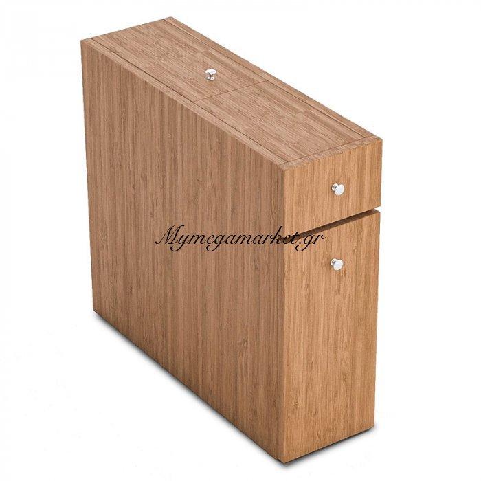 Συρταριέρα Πολυμορφική Μπάνιου Pwf-0010 Χρώμα Bamboo 19X60X55Εκ | Mymegamarket.gr