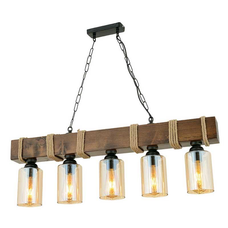 Φωτιστικό Οροφής Pwl-0042 Χρώμα Καρυδί-Μαύρο 85X9X70Εκ Στην κατηγορία Φωτιστικά οροφής | Mymegamarket.gr