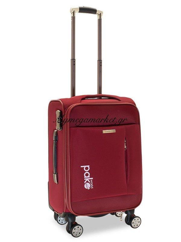 Βαλίτσα Καμπίνας Adventure Με 4 Ρόδες Υφασμάτινη Κόκκινο 38X24X60Εκ | Mymegamarket.gr