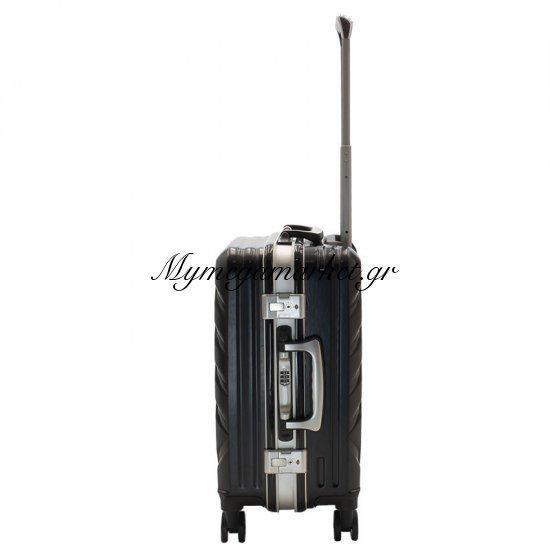 Βαλίτσα Καμπίνας Deluxe Με 4 Ρόδες Σκληρή Από Abs+Pc Μαύρο 38X26X58Εκ Στην κατηγορία Βαλίτσες - Σακίδια   Mymegamarket.gr