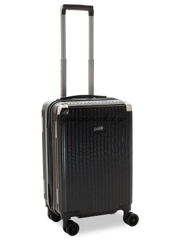 Βαλίτσα Καμπίνας Venezia Με 4 Ρόδες Σκληρή Από Abs+Pc Μαύρο 36,5X25X57,5Εκ | Mymegamarket.gr