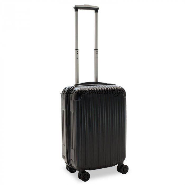 Βαλίτσα Καμπίνας Lido Με 4 Ρόδες Σκληρή Από Abs+Pc Μαύρο 35X23X56Εκ | Mymegamarket.gr