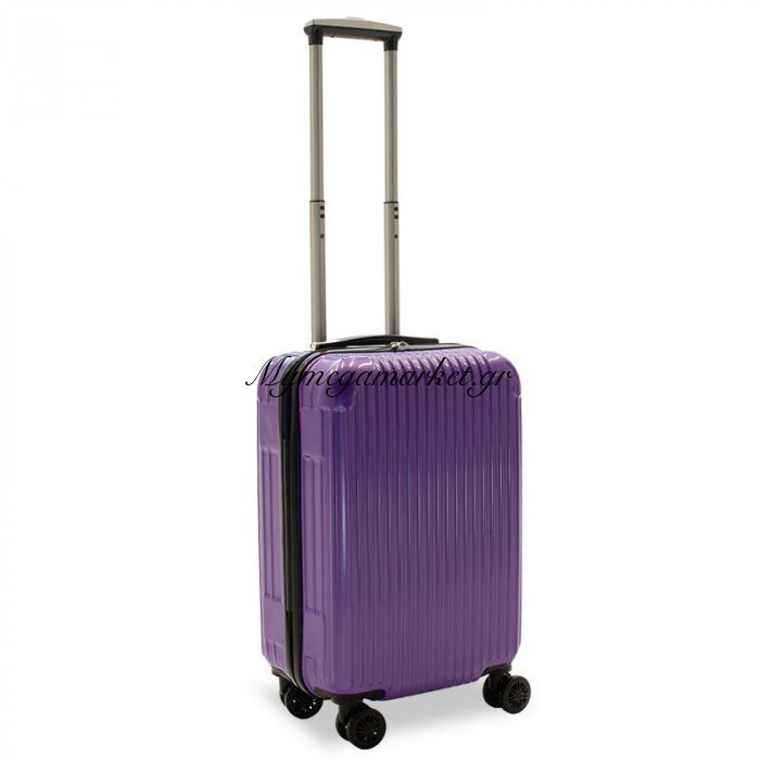 Βαλίτσα Καμπίνας Lido Με 4 Ρόδες Σκληρή Από Abs+Pc Μωβ 35X23X56Εκ | Mymegamarket.gr