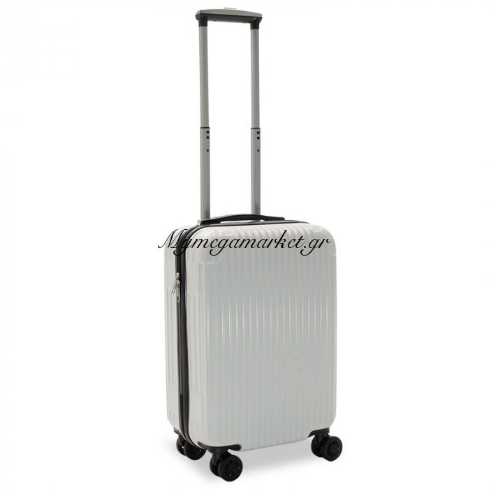 Βαλίτσα Καμπίνας Lido Με 4 Ρόδες Σκληρή Από Abs+Pc Λευκό 35X23X56Εκ | Mymegamarket.gr