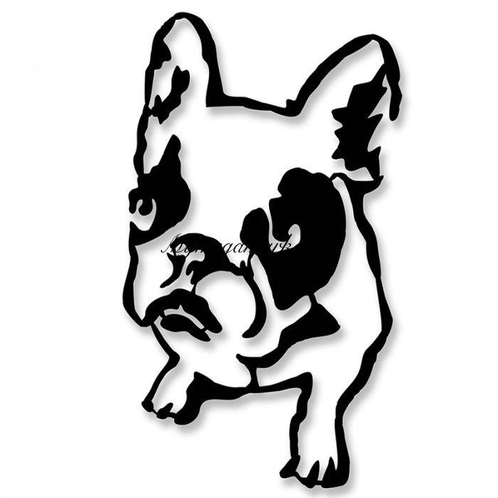 Μεταλλικό Διακοσμητικό Τοίχου Dogo 40X0,3X40Εκ | Mymegamarket.gr