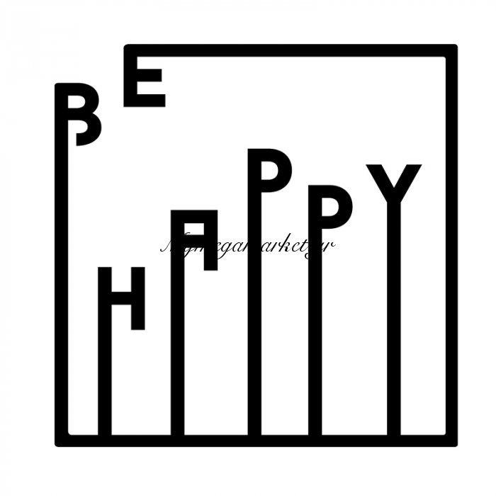Μεταλλικό Διακοσμητικό Τοίχου Be Happy 40X0,3X40Εκ   Mymegamarket.gr