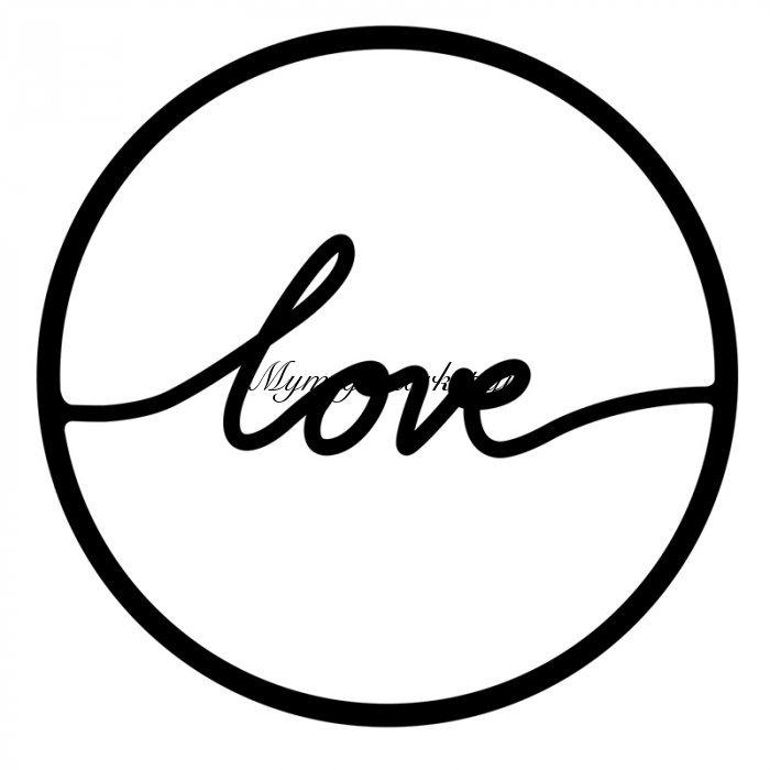 Μεταλλικό Διακοσμητικό Τοίχου Love 45X0,3X45Εκ | Mymegamarket.gr