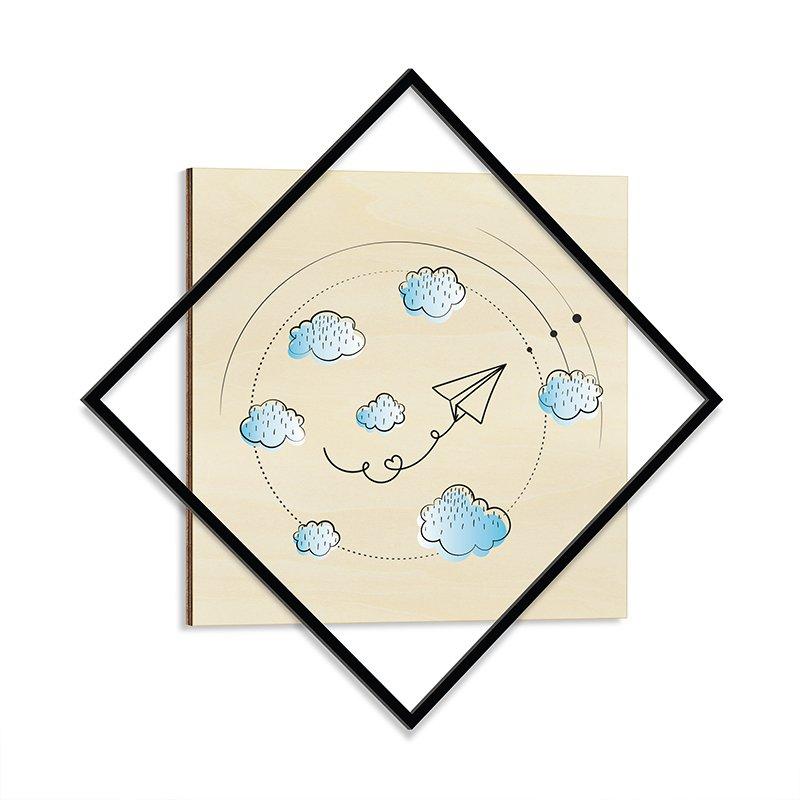 Διακοσμητικός Πίνακας Με Μεταλλικό Πλαίσιο Childhood 72X72Εκ