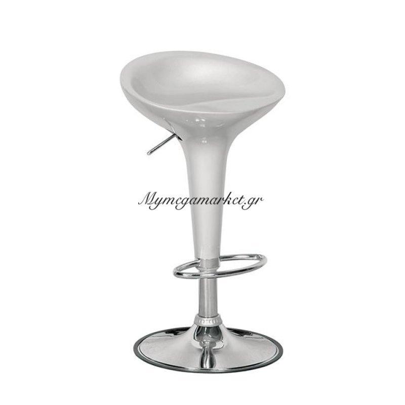 Disco Σκαμπώ Bar Abs Silver/χρώμιο Στην κατηγορία Σκαμπό Bar   Mymegamarket.gr