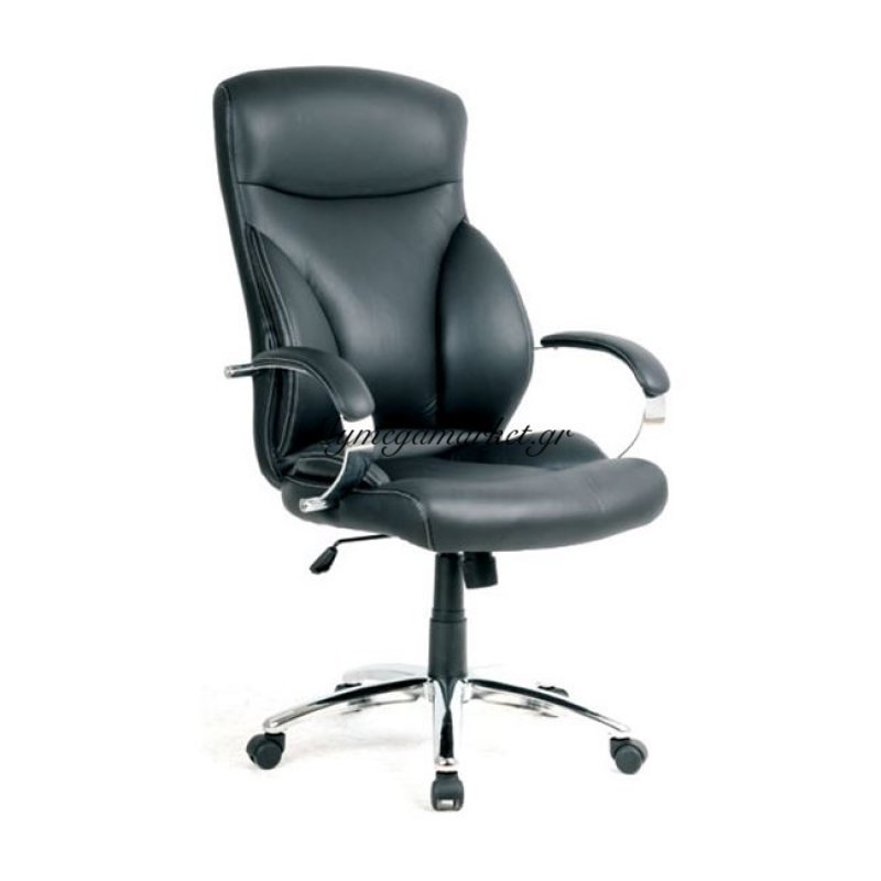 Bf5300 Πολυθρόνα Διευθ.μαύρη Στην κατηγορία Καρέκλες - Πολυθρόνες γραφείου | Mymegamarket.gr