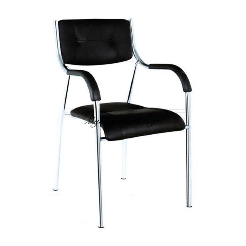Alpha Πολυθρόνα Pu Μαύρο Στην κατηγορία Καρέκλες εσωτερικού χώρου | Mymegamarket.gr