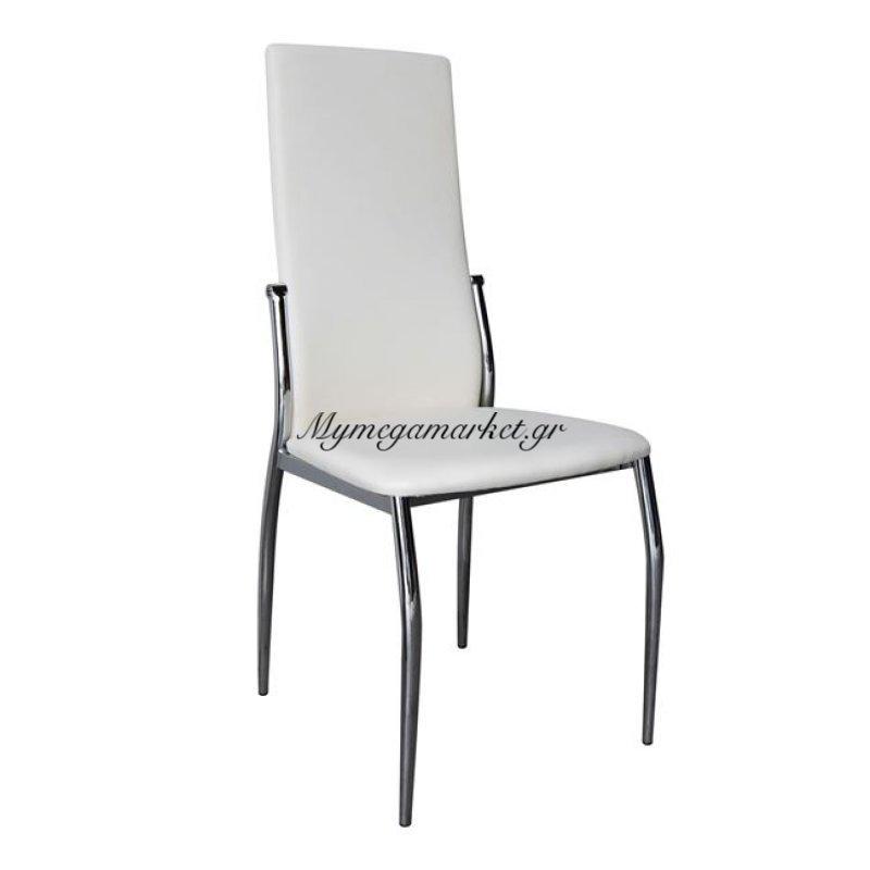 Fresh Καρέκλα K/d Χρώμιο/pvc Εκρού Στην κατηγορία Καρέκλες εσωτερικού χώρου | Mymegamarket.gr