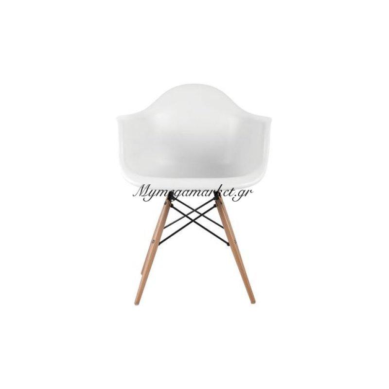 Alea Wood Πολυθρόνα Pp Λευκό Στην κατηγορία Πολυθρόνες τραπεζαρίας | Mymegamarket.gr