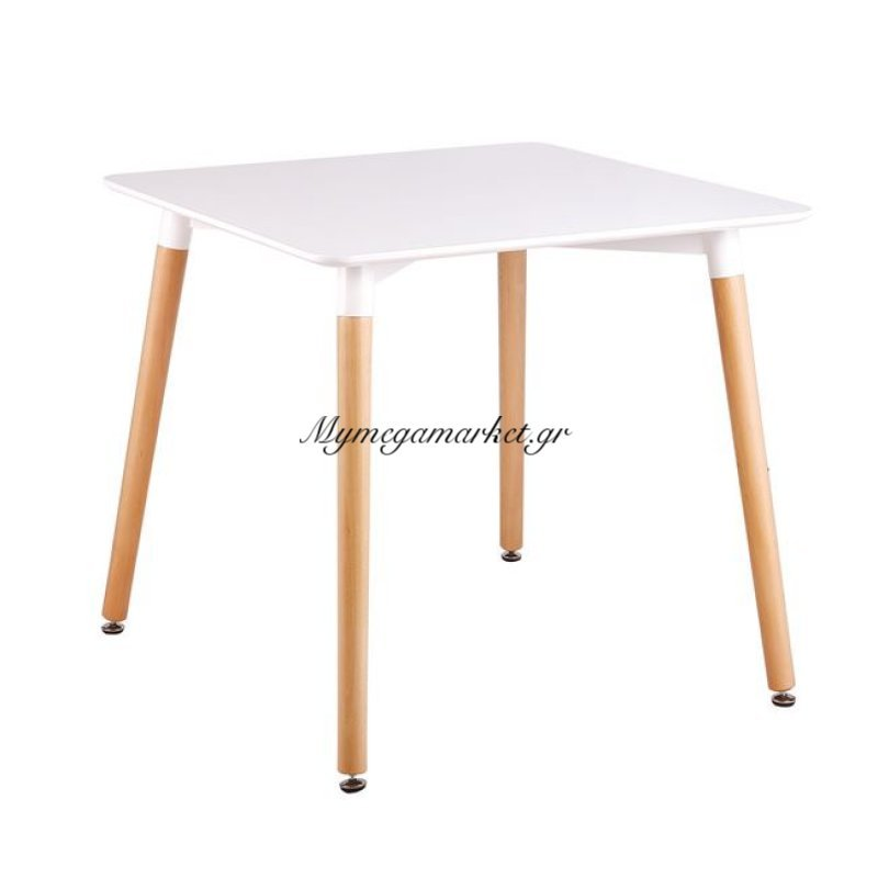 Art Τραπέζι 80X80Cm Λευκό Στην κατηγορία Τραπέζια - Τραπεζαρίες   Mymegamarket.gr